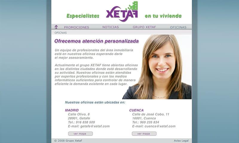 Contacto web Xetaf