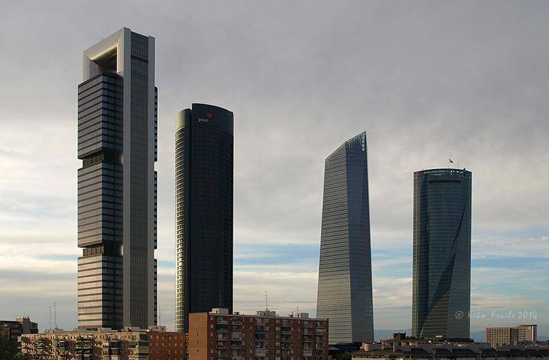 Vista general de las Cuatro Torres Business Area. Madrid