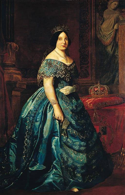 Retrato de Isabel II hacia 1849 en uno de los despachos del IGME
