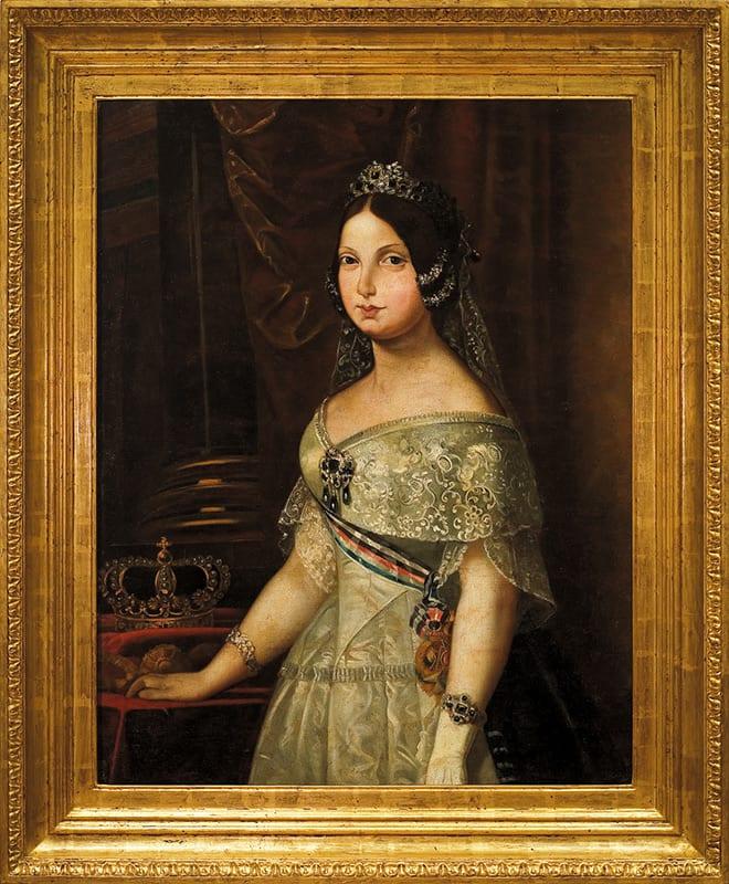 Retrato de Isabel II niña