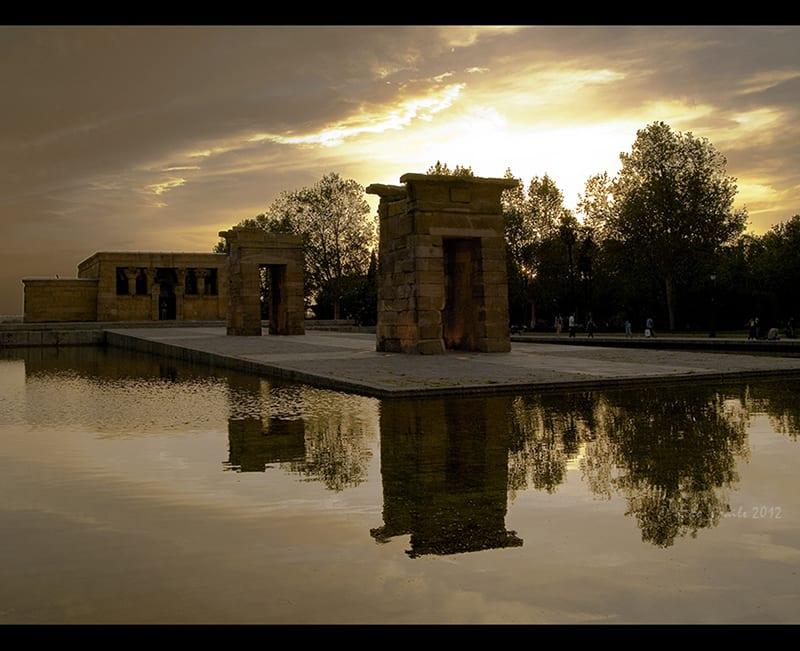 Templo de Debod, una de las visitas impresecindibles de Madrid, Spain. © Kiko Fraile