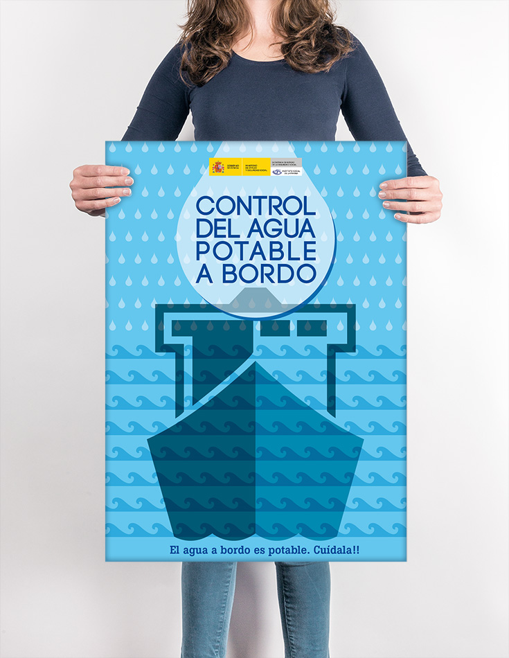 Cartel Control del Agua Potable a Bordo. ISM