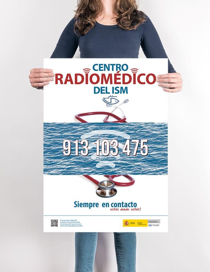 Cartel Centro Radiomédico. ISM