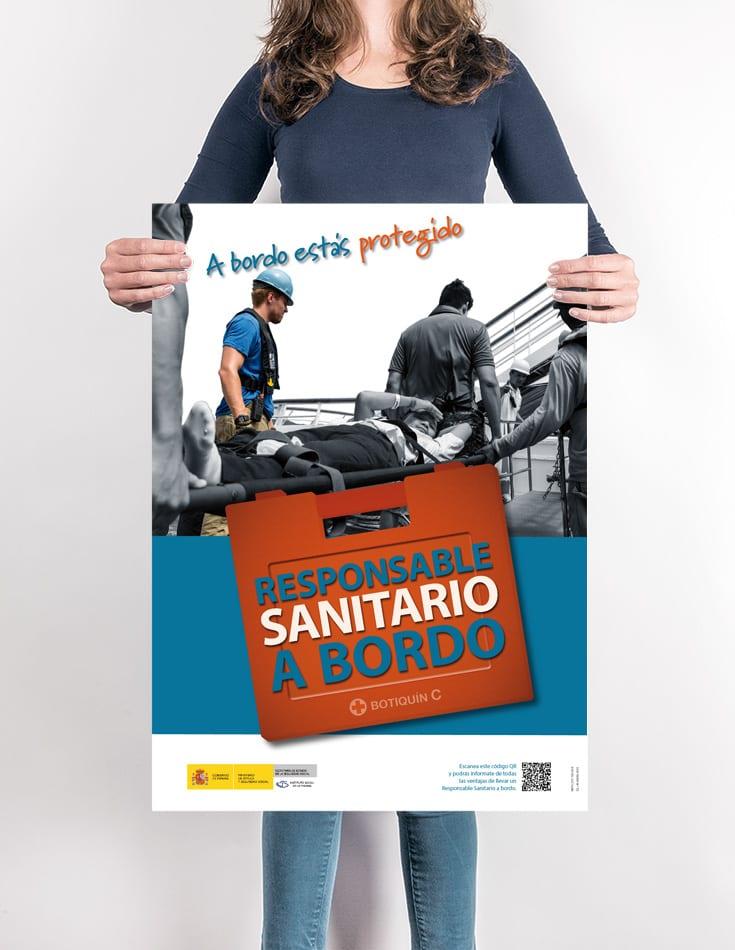 Cartel Centro Responsable Sanitario a Bordo. ISM
