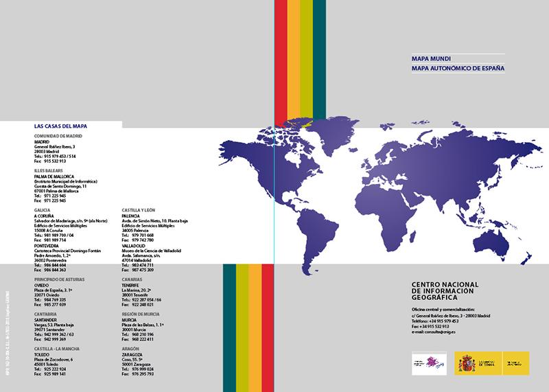 Folleto del Mapa de España y Mundi del CNIG