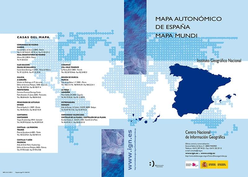Folleto del Mapa de España y Mundi del CNIG. V2