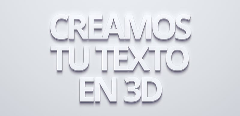 Textos en 3D